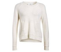 Pullover mit Cashmere-Anteil - weiss