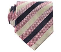Krawatte - rot/ creme/ schwarz gestreift