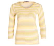 Shirt mit 3/4-Arm - gelb/ weiss