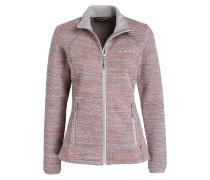 Strick-Fleecejacke RIENZA - rose meliert