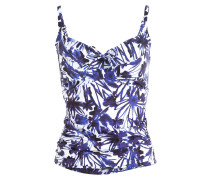 Tankini-Top SECRET GARDEN - navy/ weiss