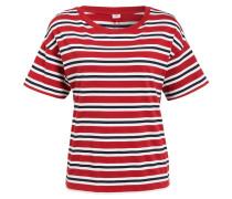 T-Shirt NEW SUTRO - rot/ navy/ weiss