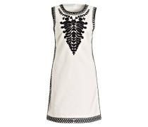 Kleid mit Stickereien - schwarz/ creme
