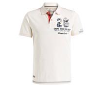 Jersey-Poloshirt - ecru