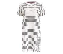 Kleid - offwhite/ marine gestreift