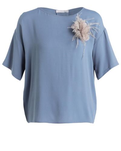 Blusenshirt mit Seidenanteil