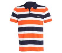 Poloshirt - orange/ blau gestreift
