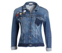 Jeansjacke mit Patches - blau