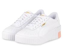 Plateau-Sneaker CALI WEDGE - WEISS/ NUDE