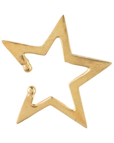 Earcuff SKEWED STAR - gold