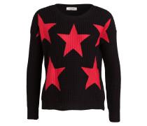Pullover - schwarz/ rot