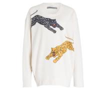 Sweatshirt - ecru/ gelb/ anthrazit