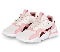 Plateau-Sneaker NOVA - WEISS/ ROSA