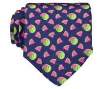 Krawatte - navy/ pink/ neongrün