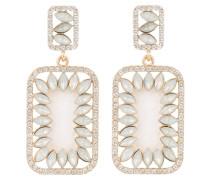Ohrringe ZORAYA - gold/  weiss opal