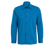 Outdoor-Hemd TAPIO - blau/ grau kariert