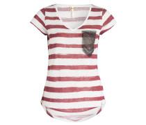 T-Shirt JOSY - dunkelrot/ weiss gestreift