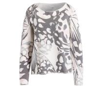 Sweatshirt - ecru/ dunkelgrau/ rosa
