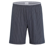 Sleep-Shorts - navy/ grau
