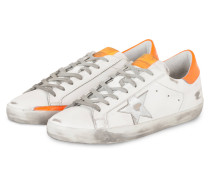 Sneaker SUPERSTAR - WEISS/ ORANGE
