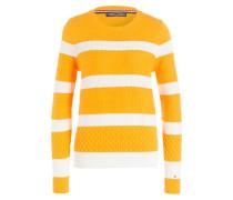 Pullover PANIANA - gelb/ weiss gestreift
