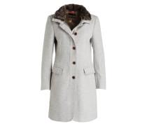 Mantel mit Besatz in Pelzoptik
