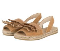 Sandalen im Espadrilles-Stil