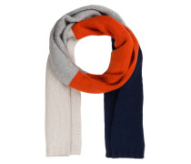 Schal - navy/ orange/ grau
