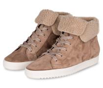 Hightop-Sneaker - hellbraun/ beige