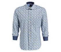 Hemd Casual modern fit - blau/ weiss/ grün