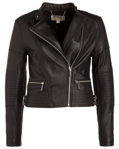 michael kors damen michael kors biker lederjacke 33. Black Bedroom Furniture Sets. Home Design Ideas