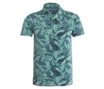 Jersey-Poloshirt Slim-Fit - grün
