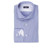Hemd RIVARA Tailor-Fit - blau/ weiss