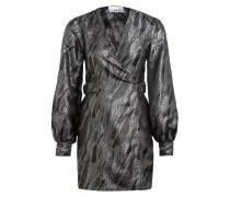 Jacquard-Kleid zum Wickeln mit Glitzergarn