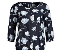 Bluse FLOWER - dunkelblau/ hellblau/ weiss