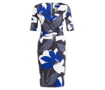 Kleid LANA - blau/ weiss/ grau