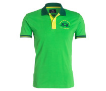 Piqué-Poloshirt Slim-Fit - grün