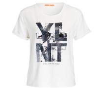 T-Shirt TABURNI - ecru/ silber metallic