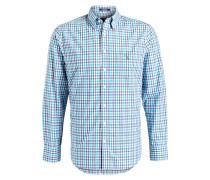 Hemd Regular-Fit - weiss/ türkis/ blau