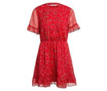 Kleid mit Volantsbesatz