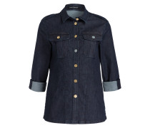 Jeansbluse - dunkelblau meliert