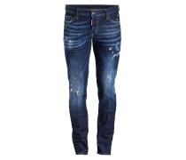 Destroyed-Jeans Slim-Fit - blue