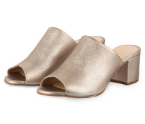 Mules OBAMA - altgold metallic