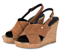 Wedges - cognac