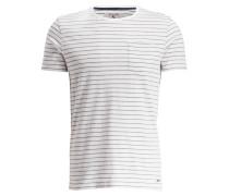 T-Shirt - weiss/ blau gestreift