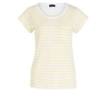 T-Shirt - weiss/ gelb gestreift