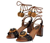 Sandalen - schwarz/ braun