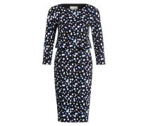 Kleid COSMO - schwarz/ weiss/ hellblau