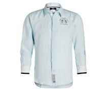 Leinenhemd Regular-Fit - hellblau