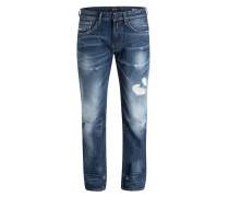 Destroyed-Jeans NEWBILL Comfort-Fit - blau
